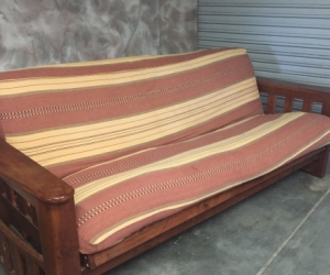 Futon couch and armchairs