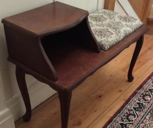 Retro telephone / hall table