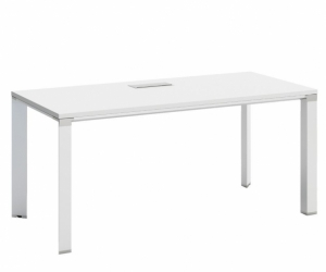 Stilford Straight White Office Desks (2 available)