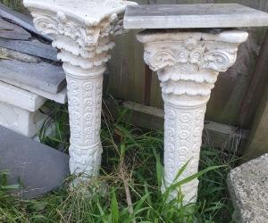 Concrete ornamental stands