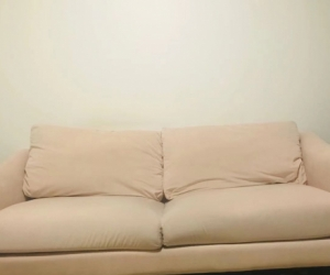 Queen size bed and two seat sofa