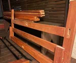 Queen size pine wooden bed