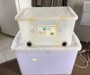 Clear Plastic Storage Tubs with lids