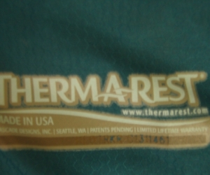 Camp sleeping mat: THERMAREST
