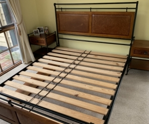 Wentworth Queen-sized bed with side tables