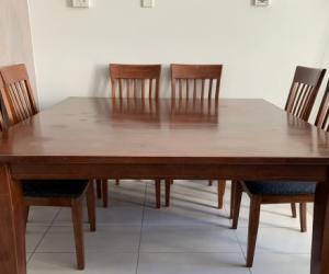Jarrah 8 Seater Square Dining Suite