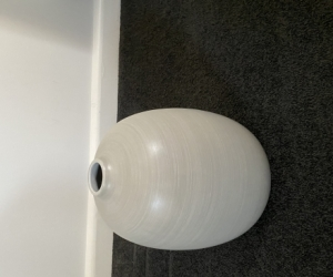 Grey vase in as new condition