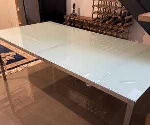 Glass Top Aluminium Table