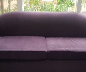 Fantastic Furniture Aubergine Purple Cord Sofa Bed Lounge Couch Fold Out - pick up Cronulla