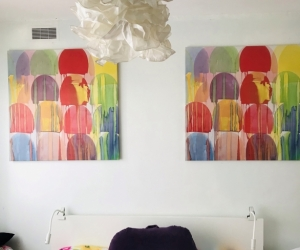 2Bright Prints and a  doona set that matched
