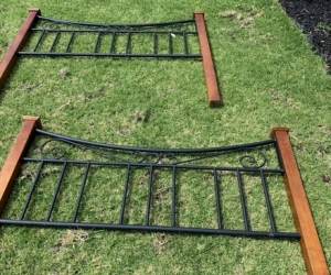 Queen size slatted bed frame
