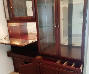 Display bar cabinet wooden