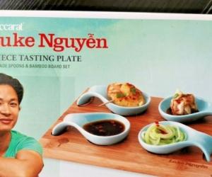 Luke Nguyen 5 Piece Tasting Plate jade spoons