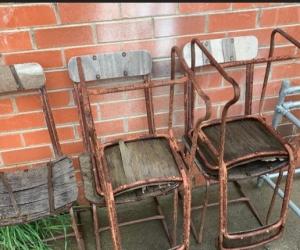 5 x Vintage Metal Chairs