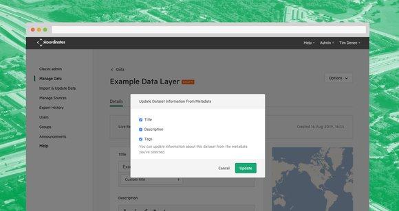 Metadata New Admin
